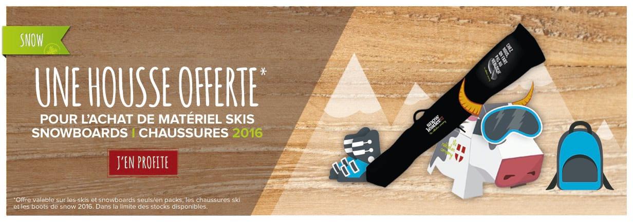 Housse offerte sur votre matos 2016 : skis, snowboards et chaussures !