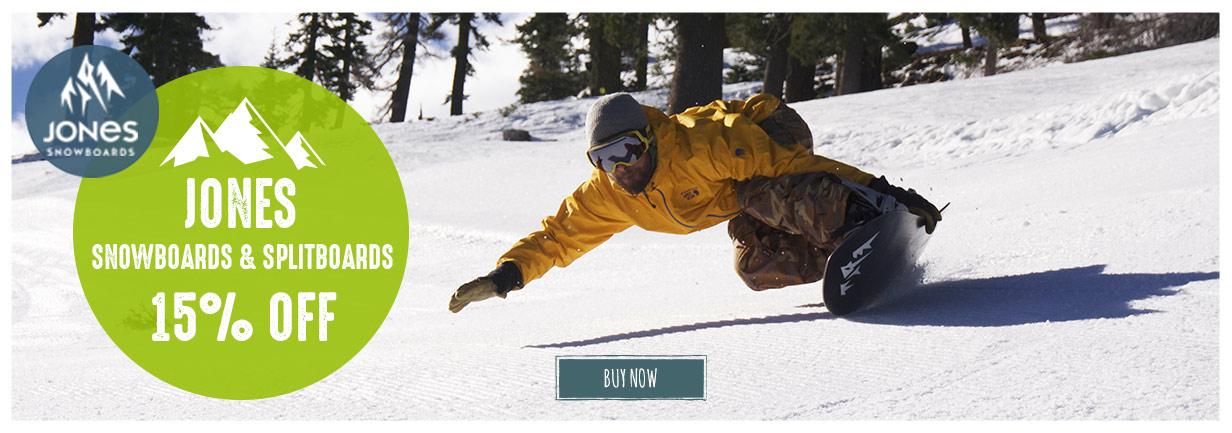 Jones Snowboards Now On Sale