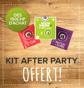 Un kit after party offert dès CHF150 d'achat !