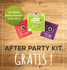 After Party Kit für zuhause gratis!