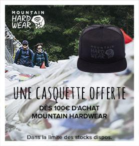 Une casquette offerte dès 100€ d'achats Mountain Hardwear