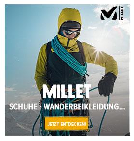 Jetzt Entdecken Millet : Wanderschuhe, Ruckäcke, Wanderbeikleidung!