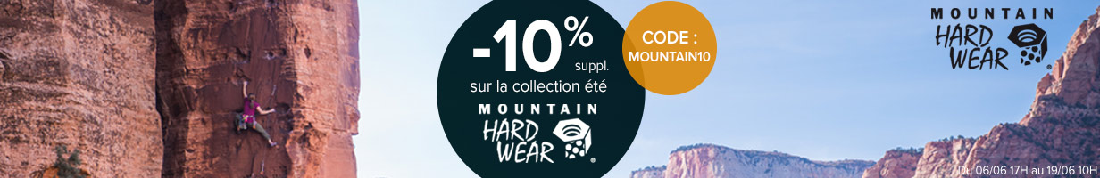 10% suppl. sur Mountain Hardwear avec le code MOUNTAIN10