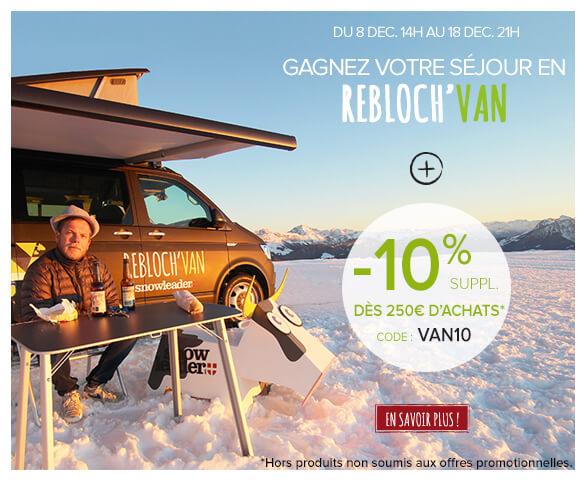 Gagnez votre séjour en Rebloch'Van et profitez de -10% supplémentaire!