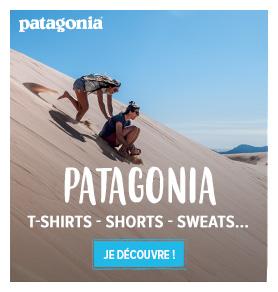 Découvrez les produits de la marque Patagonia : T-shirts, Shorts, Sweats…