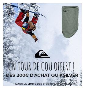 Un tour de cou offert dès 200€ d'achat Quiksilver !