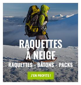Découvrez notre rayon Raquettes à neige : Raquettes, Baâtons, packs...