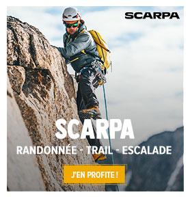 Découvrez les produits de la marque Scarpa : Chaussures de randonnée, trail running, escalade !