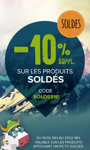 -10% sur les produits soldés avec le code soldes10 !