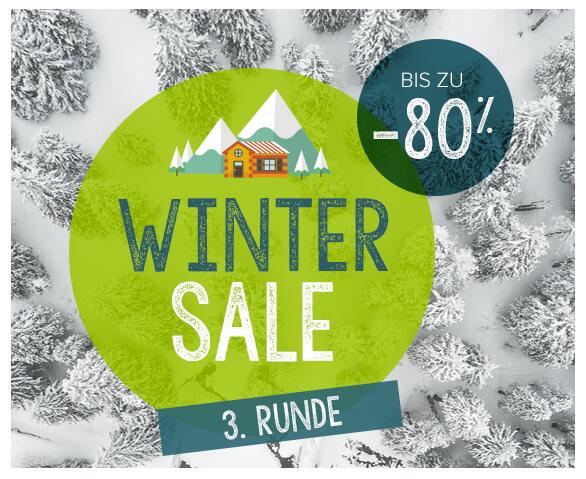 Winter Sale, bis zu -80% vom 09/01 bis 19/02 !