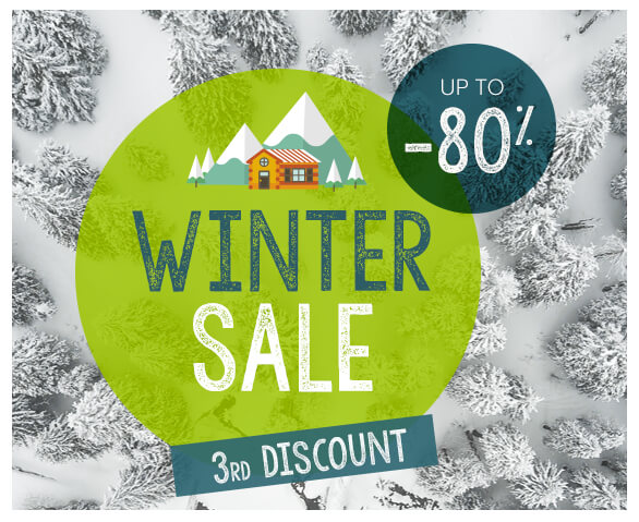 Winter Sale, up to -80% from 09/01 to 19/02 !