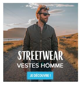 Toutes les vestes streetwear homme !