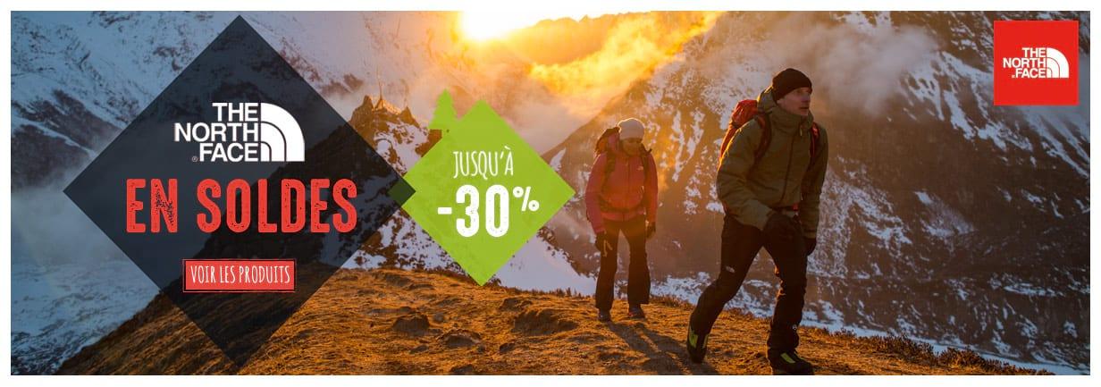 The North Face en soldes, jusqu'à -30% !