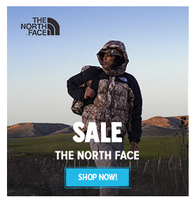 It's Summer sale on The North Face! Until 50% off on The North Face's products