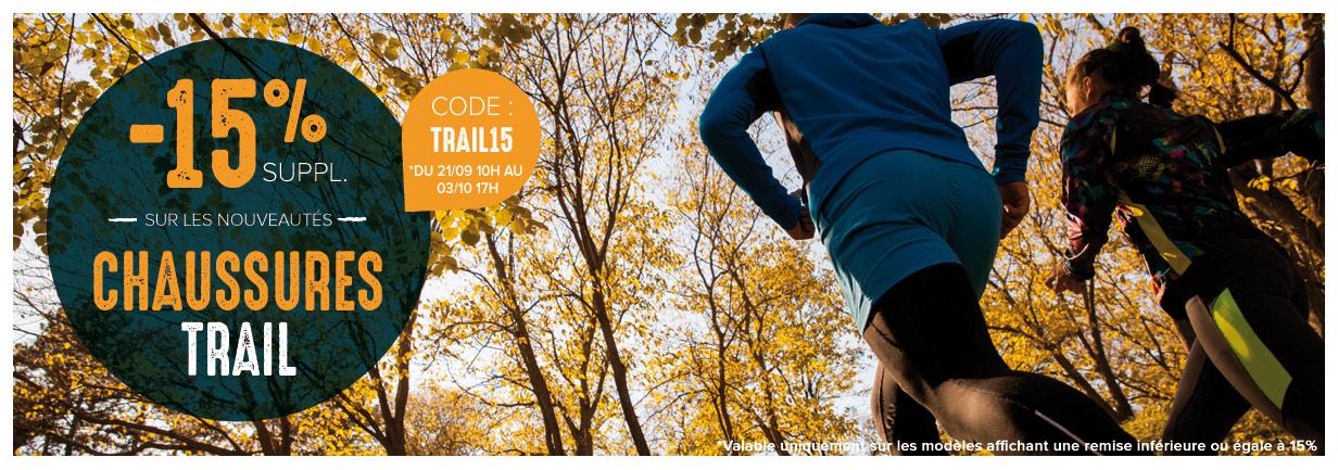 -15% sur les nouvelles collections de chaussures trail running !