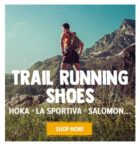 Come discover our selection of trail running shoes : Salomon, Hoka One One, Lasportiva...