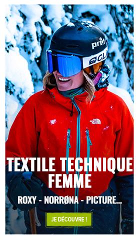 Découvrez notre rayon textile technique femme: Roxy, Picture, The North Face...
