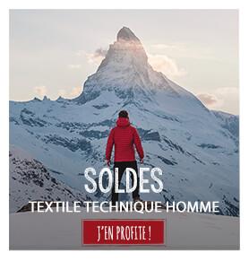 Textile technique homme en soldes