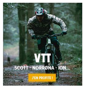 Découvrez notre rayon VTT : Scott, Norrøna...