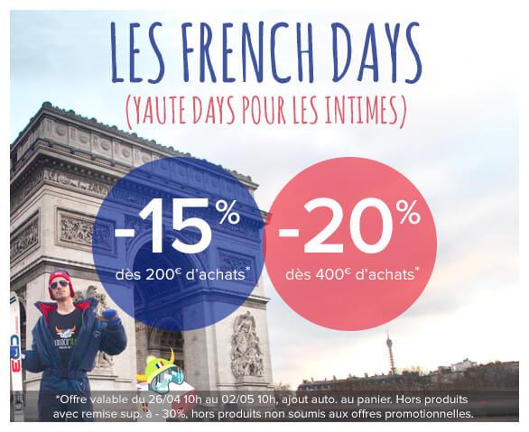Profitez des French Days sur tout notre site !