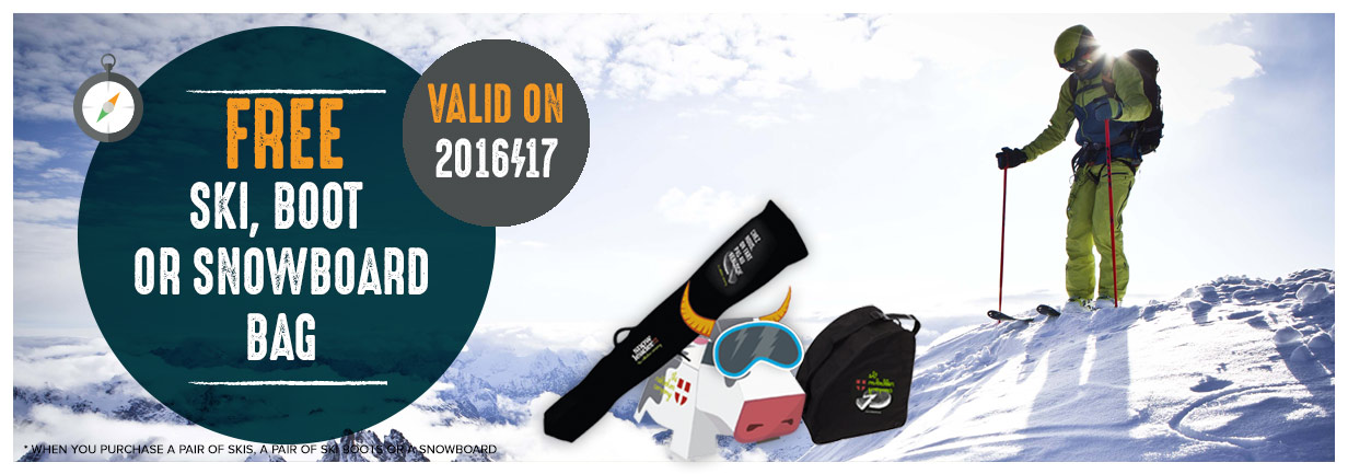Free Bag When You Buy Ski, Boots Or A Snowboard