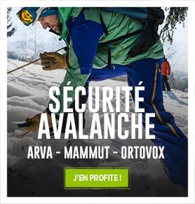 Découvrez l'ensemble de nos équipements de sécrutié avalanche : Packs DVA, Sacs Airbg, Sondes..