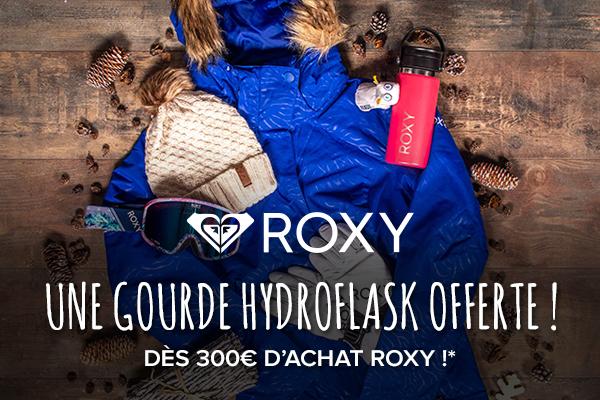 Une gourde Hydroflask offerte dès 300€ d'achat Roxy !