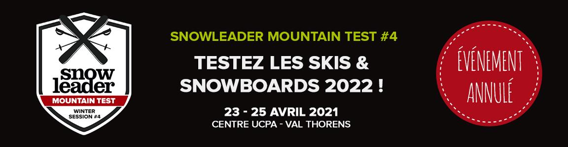 Banniere Snowleader Mountain Test numero 4 annulé