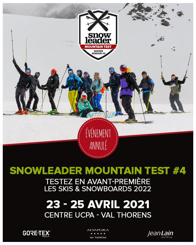 Banniere mobile Snowleader Mountain Test numero 4 annulé