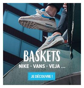 Découvrez tous les produits de notre rayon Baskets Homme : Nike, Vans, Veja…