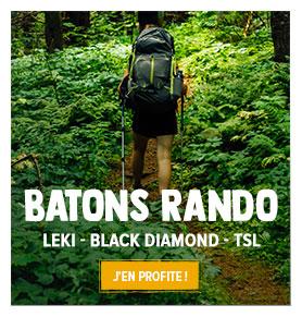 Profitez de notre rayon Batons de randonnée : Leki, Black Diamond, TSL Outdoor...