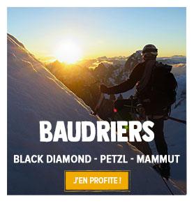 Profitez de nos baudriers d'escalade : Black Diamond, Petzl, Mammut…