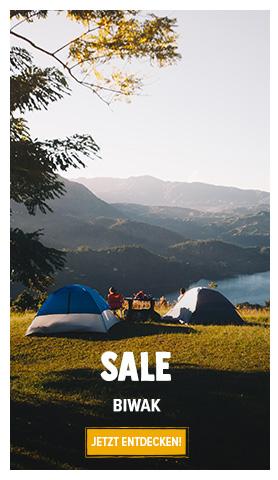 Sale und Biwak : Bis zu 50%