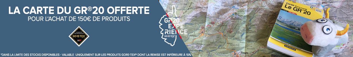 Carte du GR20 Corse offert pour 150€ d'achats Gore-Tex!