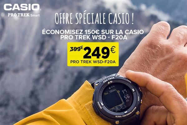 Economisez 100€ sur la montre outdoor Protrek Smart WSP-F20A de Casio!
