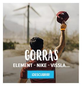 Descubrir gorras: Element, Nike, Vissla…