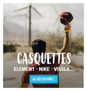 Découvrez notre rayon casquettes : Element, Nike, Vissla…