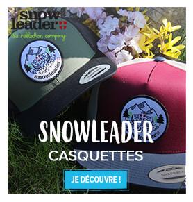 Découvrez nos casquettes Snowleader !