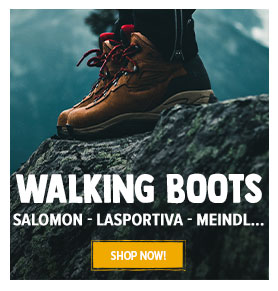 Come discover the Walking boots : Meindl, Salomon, Scarpa...
