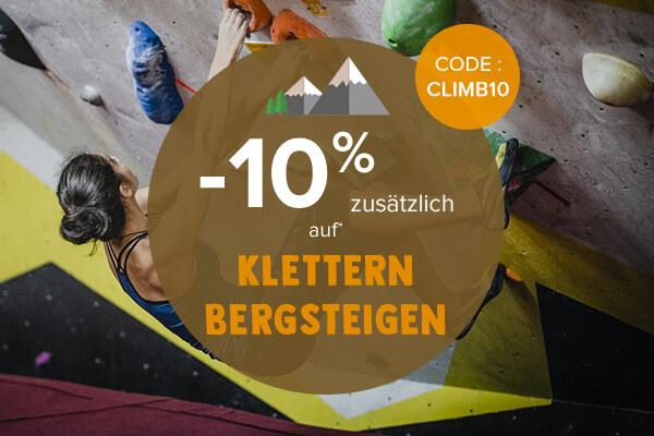 -10% zusätzlich auf Klettern Bergsteigen