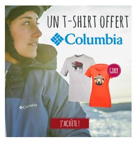Tshirt Columbia offert!