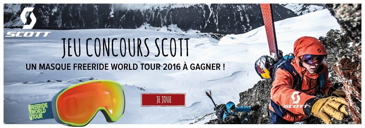 Jeu concours Scott : un masque freeride world tour à gagner !