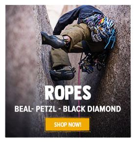 Come discover our Climbing Ropes: Beal, Petzl, Black Diamond…