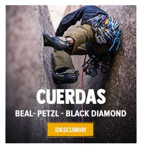 Descubre nuestros gama de Cuerdas de Escalada: Beal, Petzl, Black Diamond…