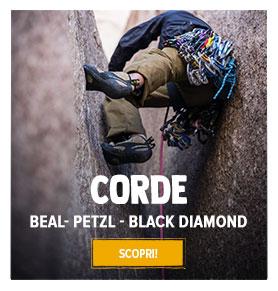 Scopri la nostra gama di Corde Arrampicata: Beal, Petzl, Black Diamond…