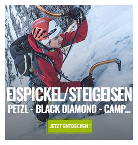 Eispickel und Steigeisen : Petzl, Black Diamond, Camp...