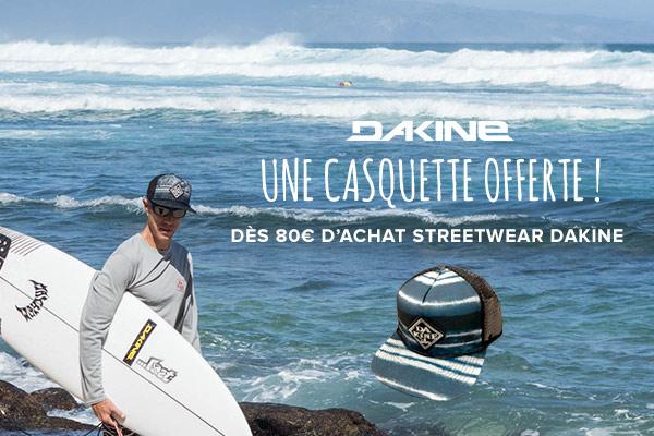 Une casquette offerte dès 60€ d'achats Dakine !