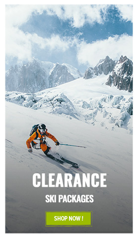 Discover our ski packages winter clearance range
