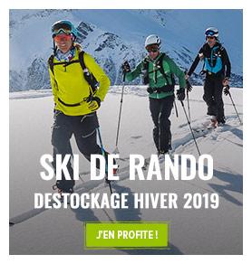 Profitez du destockage outdoor estival ! Jusqu'à -70% sur le rayon Ski de Randonnée