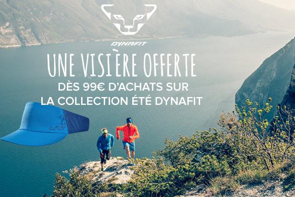 une visière offerte dès 99€ d'achats sur la collection été Dynafit!